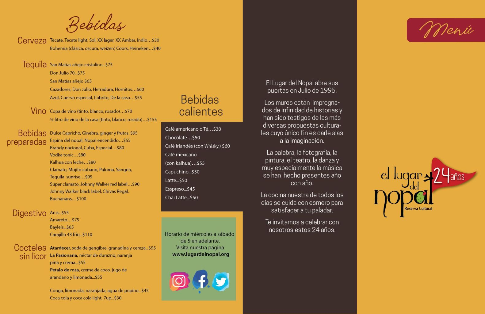 menu 19 b